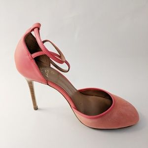 Banana Republic • Coral Pink Ankle Strap Heel